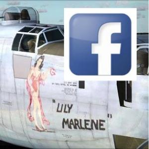 avión combate americano con imagen de Lili M