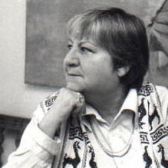 La autora Gloria Fuertes, fallecida en 1998