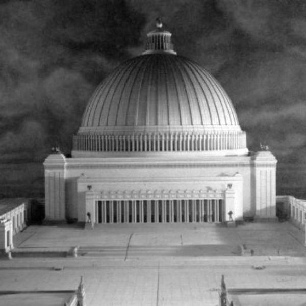 Maqueta de la Volkshalle o Gran Nave que Albert Speer pretendía construir en Germania, la nueva Berlín.