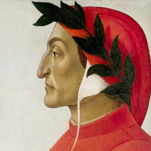 Dante Alighieri, autor del Infierno, una de las partes de su Comedia, exiliado de su patria por motivos políticos.