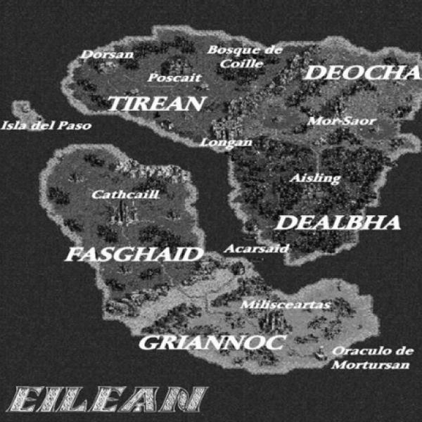 Mapa de Eilean, del libro Viajes a Eilean: Iniciación