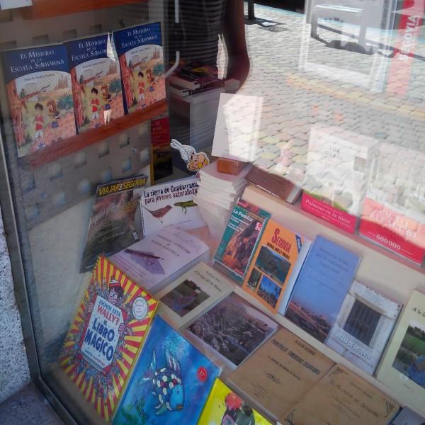 En el escaparate de una librería de Segovia