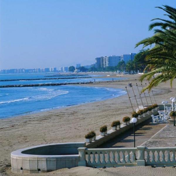 Aspecto de las playas de Benicassim en la época invernal.