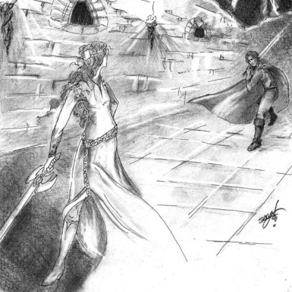 duelo entre Crÿstal y Álvaro