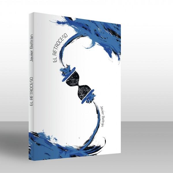 Recreación en 3D de la portada del libro de ciencia-ficción El Retroceso. Diseño de Diego Burdío