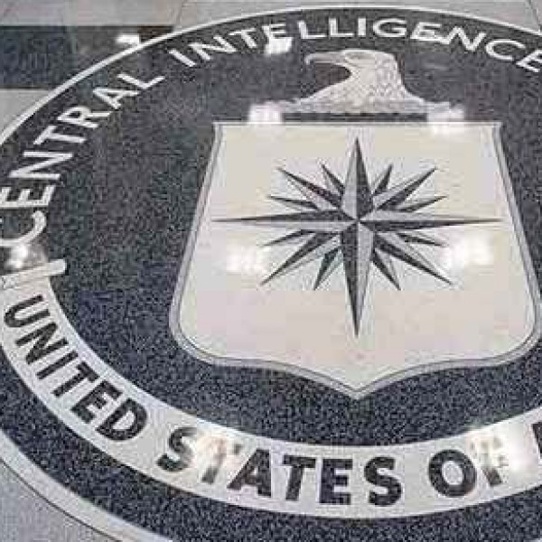 Mosaico del hall del cuartel general de la CIA