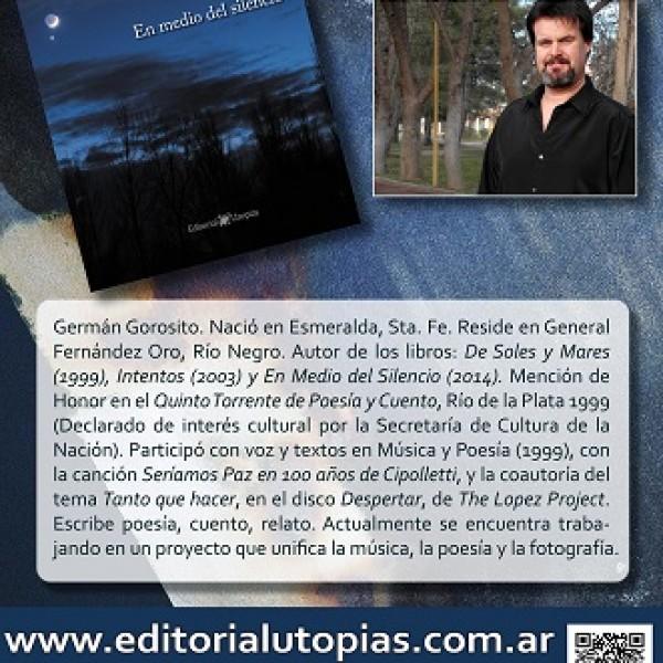 """Publicidad en las presentaciones del libro """"En medio del silencio"""""""