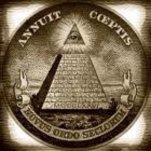 Old masonic symbol annuit caeptis novus ordo seclorum