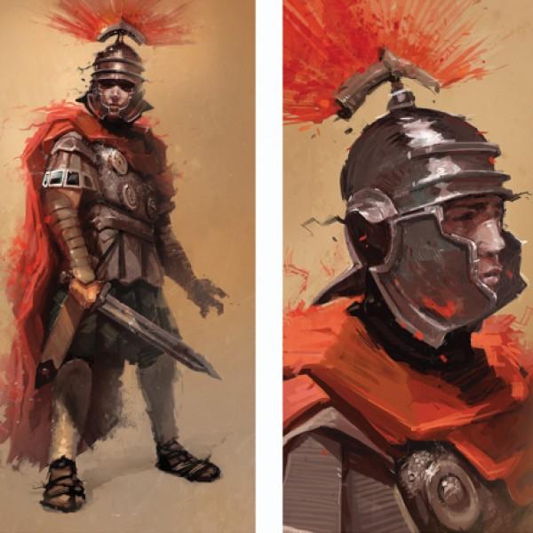Lucha a pie como cualquier otro soldado, pero ninguno puede comparársele. Es Salonius Salonius, emperador neorromano.