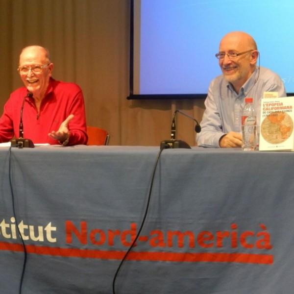 Presentació el 22/10/15 del llibre de Santiago Suñol i Molina a l'Institut d'Estudis Nord-americans a Barcelona acompanyat de l'editor de Llibres de L'Índex, Josep Maria Orteu.