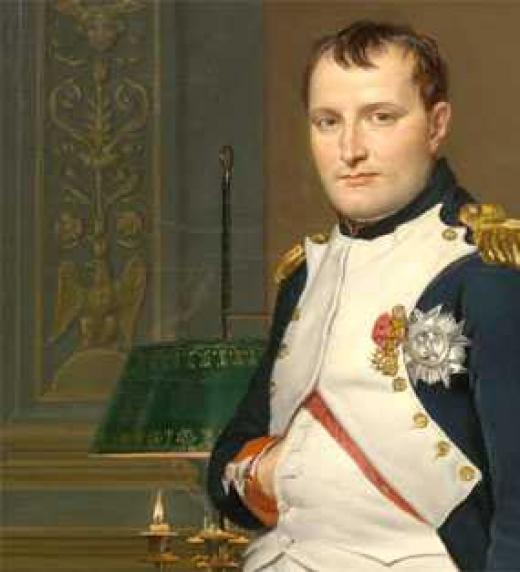 Napoleón Bonaparte, otro de los personajes históricos que aperece en la novela desterrado en la Isla de Elba