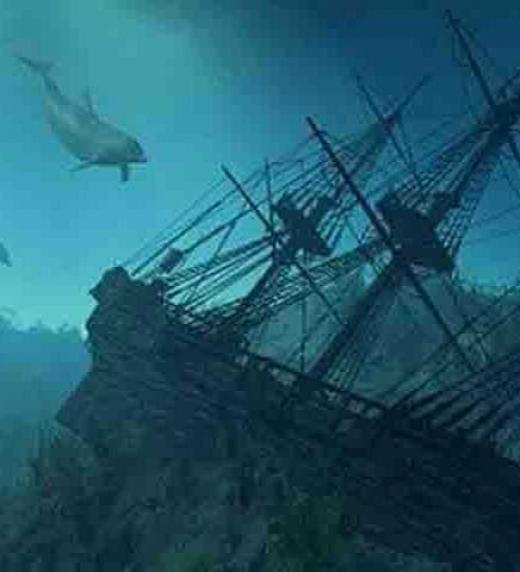 Por motivos de curiosidad, investigación o búsqueda de riqueza, ambos protagonistas tratan de encontrar el galeón hundido de Santa Bárbara