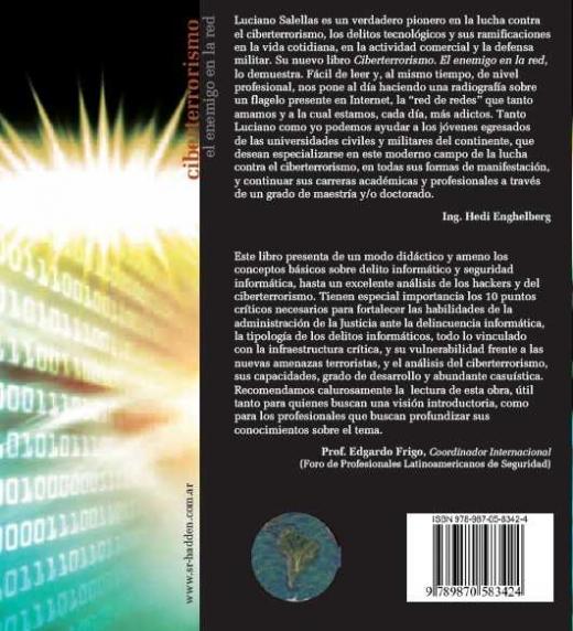 """Contratapa del libro """"Ciberterrorismo. El enemigo en la red"""""""