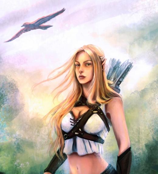Galadoriel, uno de los personajes femeninos principales de Leyendas de Erodhar