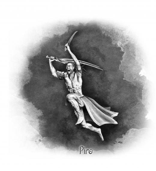 Piro, uno de los grandes protagonistas de esta trepidante fantasía épica