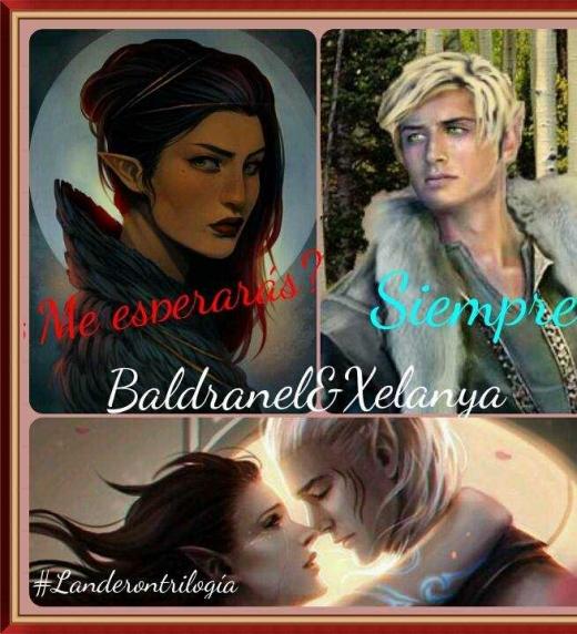 Xelanya y Baldranel, dos personajes de la novela pertenecientes a la raza de los elfos y con una relación... un tanto especial :)