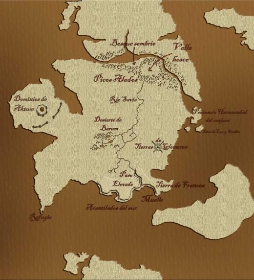 Mapa donde transcurre la aventura