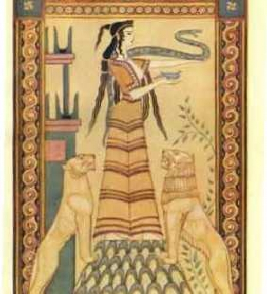 La Diosa minoica, símbolo de la tierra y la naturaleza.
