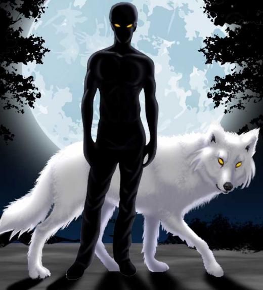 Ebryan es un hibrido, mitad humano, mitad licantropo.