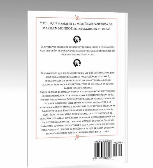 El fantasma de Marilyn, novela a la venta en Amazon formato ebook e impreso. (Contraportada)