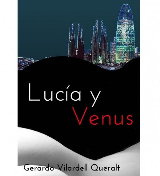 En su versión de audiolibro, Lucía y Venus tiene esta otra portada que unifica el sutil erotismo de la novela con el paisaje de Barcelona