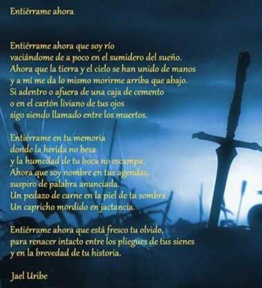 Poema del libro De la Muerte al Fenix de Jael Uribe