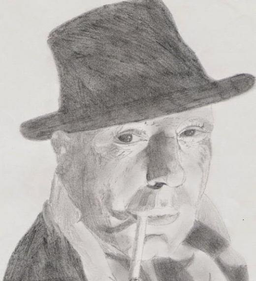 Uno de mis dibujos de cuando practicaba a carboncillo, copiado de una fotografía.