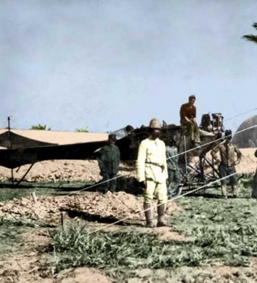Avión italiano empleado en la guerra Italo Turca 1912
