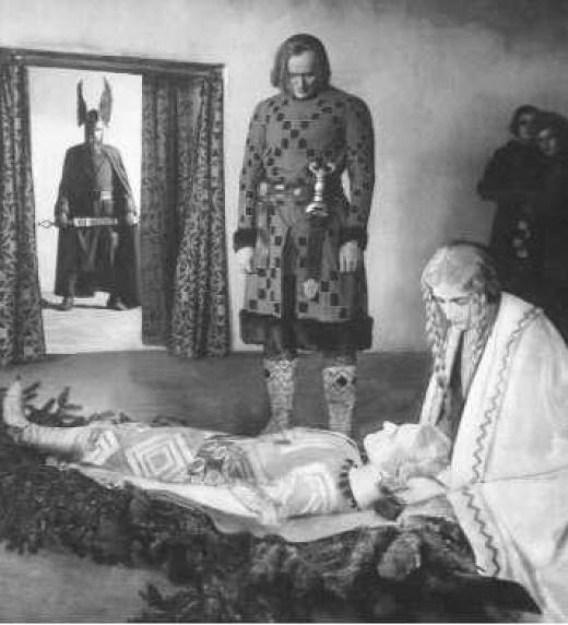 Fotograma de Los Nibelungos de Fritz Lang (1924)