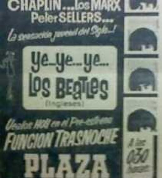En Uruguay el pre-estreno de la película Ye...Ye...Ye... Los Beatles tuvo lugar en el cine Plaza de Montevideo el sábado 12 de setiembre de 1964 a las 0:30hrs.
