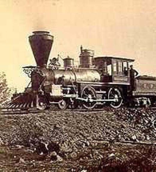 Locomotora de vapor, ejemplo de los grandes avances de la Revolución Industrial en el siglo XIX.