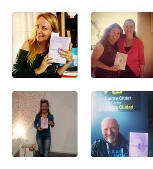 Algunos de mis lectores con su libro, en distintas partes del mundo.