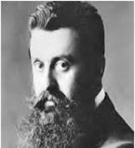 Theodor Herzl nace en Budapest el 2 de mayo de 1860 y el 3 de julio de 1904 muere. Herzl fue un periodista, escritor y líder judío y el fundador del Sionismo Moderno.