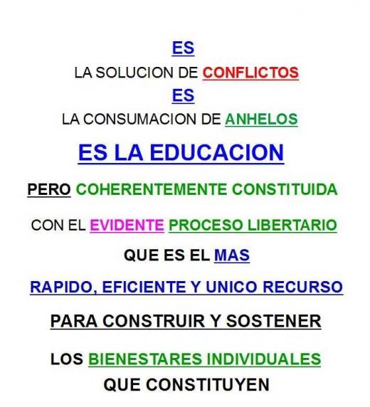 """Contratapa de """"aprendizaje y educacion la solucion de todos los conflictos la consumacion de todos los anhelos 2da EDICION e-book"""