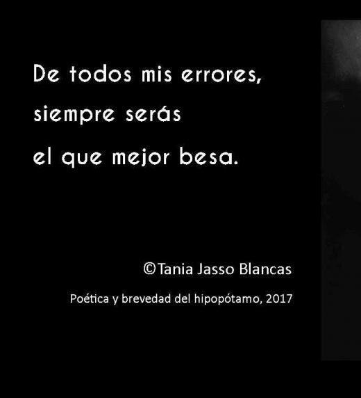Poema 42 de Poética y brevedad del hipopótamo de Tania Jasso Blancas