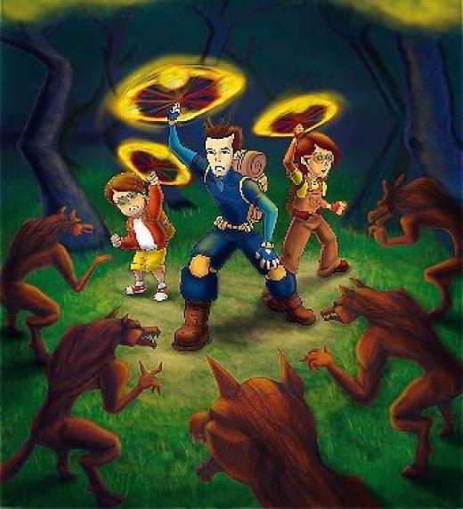 Bolas de fuegos hacen huir a las extrañas criaturas. Deben seguir adelante, el camino es largo y mas peligros encontrarán.