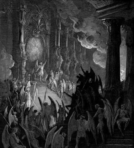 El Infierno, El Paraíso Perdido, John Milton. Romanticismo - El Pandemonio