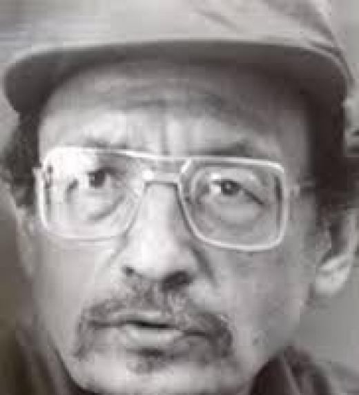 Secretario del Partido Comunista hasta 1969. Activista obrero que al fina de su carrera es traicionado y purgado por la nueva elite que lo acusa de asesinar a Melida Anaya Montes