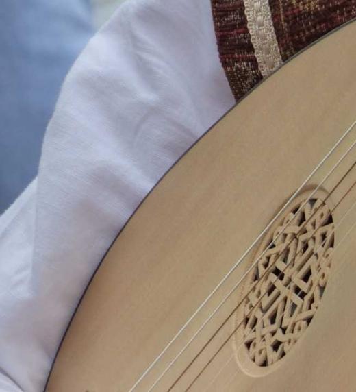 Detalle de un laúd. La novela gira en torno a este instrumento.