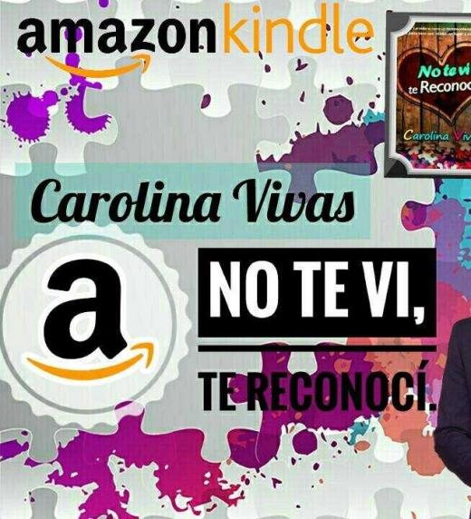 Imagen publicitaria para la novela No te vi, te reconocí. Incluye a los protagonistas