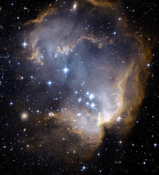 Galaxia en el espacio.