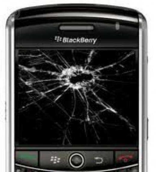 Carcasa BlackBerry rota