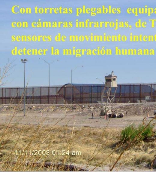 El actual muro a lo largo de Ciudad Juárez está equipado con la tecnología más avanszada