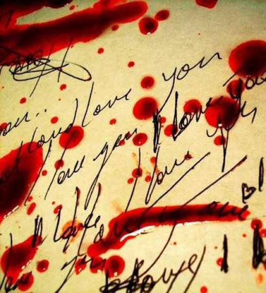 Carta con sangre