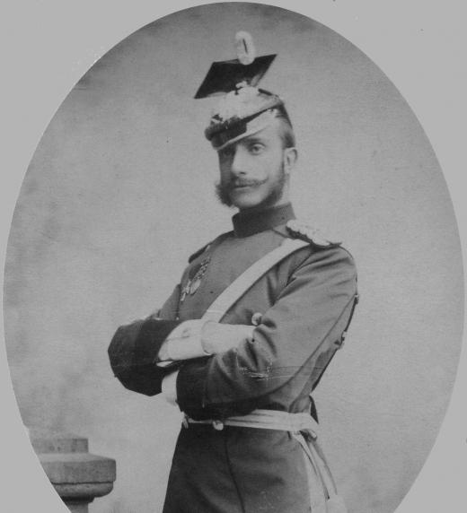 Alfonso XII, rey de España, fotografía tomada en Bad Homburg.