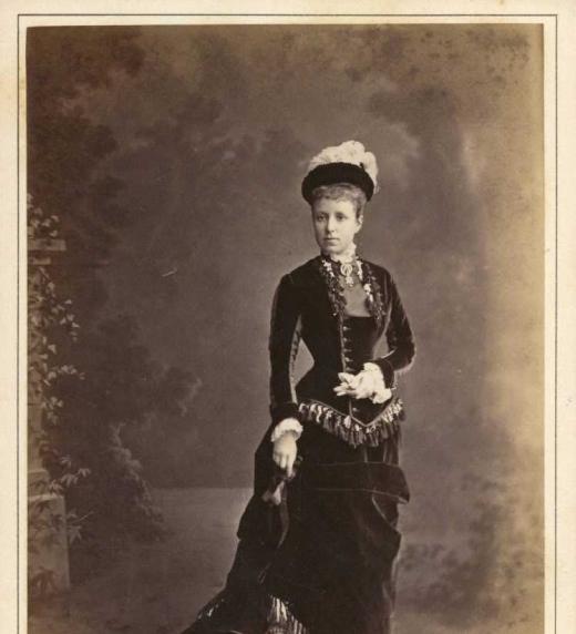 Archiduquesa Mª Cristina de Habsburgo-Lorena a su llegada a España en noviembre de 1879.