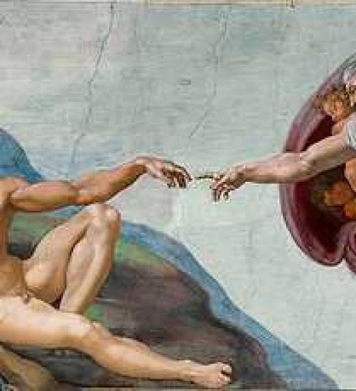 La creación de Adán; Miguel Ángel. Capilla Sixtina. Vaticano, Roma.