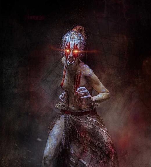 La mancha oscura se convertía en un ser y después en algo perverso. Samaia será quién proteja a Jordi de Azarus.