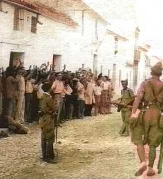 prisioneros republicanos en Arahal (Sevilla)