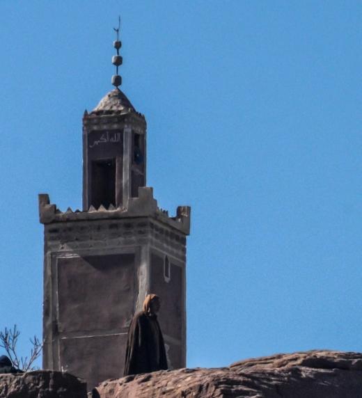 Mezquita en la región del Atlas. Marruecos